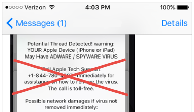 A Virus on Your iPhone? Or a Tech Support Scam!