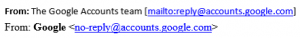 Google - Email from