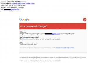 Google - password changed example 2